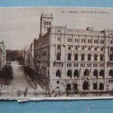 Postales: POSTAL DE MADRID. AÑOS 10 20. MINISTERIO DE MARINA. 9 X 5,5 CM. 1640. Lote 43505058
