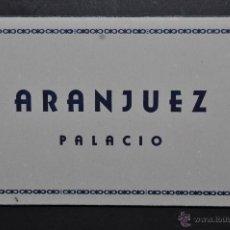 Postales: TIRA FOTO POSTAL DE ARANJUEZ. MADRID. VISTAS DEL PALACIO. 10 TARJETAS. HELIOTIPIA MADRID. Lote 43506905