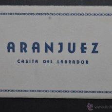 Postales: TIRA FOTO POSTAL DE ARANJUEZ. MADRID. VISTAS DE CASITA DEL LABRADOR. 10 TARJETAS. HELIOTIPIA MADRID. Lote 43506948