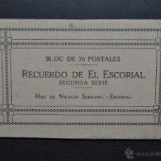 Postales: ALBUM POSTAL RECUERDO DEL ESCORIAL. MADRID. 2ª SERIE. FOTPIA. J. ROIG. 20 POSTALES. Lote 43507117