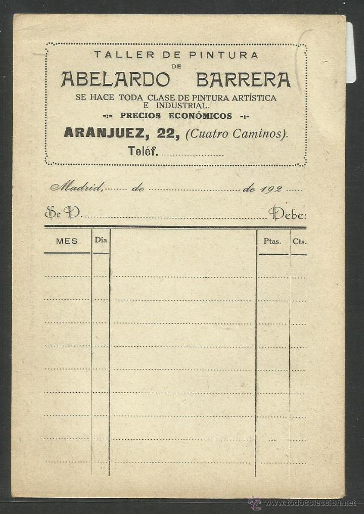 Postales: MADRID - A.BARRERA PINTOR POSTAL PUBLICITARIA - VER REVERSO (23323) - Foto 2 - 43795096