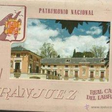 Postales: POSTALES BLOC DE 9 TARJETAS DE LA REAL CASA DEL LABRADOR ARANJUEZ. Lote 44018522