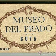 Postales: MADRID BLOC DE 20 POSTALES MUSEO DEL PRADO - GOYA - FOTOTIPIA HAUSER Y MENET. Lote 44141924