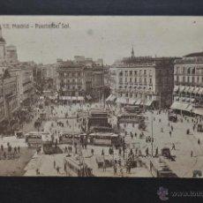 Postales: ANTIGUA POSTAL DE MADRID. PUERTA DEL SOL. ED. EXTRA MADRID. CIRCULADA. Lote 44200628
