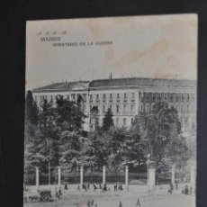 Postales: ANTIGUA POSTAL DE MADRID. MINISTERIO DE LA GUERRA. CIRCULADA. Lote 44200692