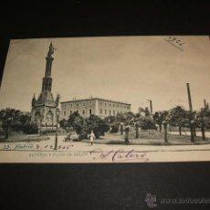 Postales: MADRID ESTATUA Y PLAZA DE COLON. Lote 44210515
