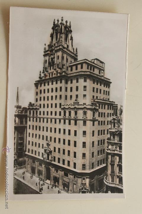 POSTAL PALACIO DE LA TELEFONICA MADRID (Postales - España - Comunidad de Madrid Antigua (hasta 1939))