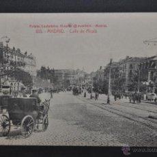 Postales: ANTIGUA POSTAL DE MADRID. CALLE DE ALCALÁ. FOTPIA. CASTAÑEIRA. SIN CIRCULAR. Lote 44299340