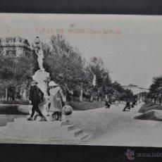Postales: ANTIGUA POSTAL DE MADRID. SALON DEL PRADO. FOTPIA. CASTAÑEIRA. SIN CIRCULAR. Lote 44332270