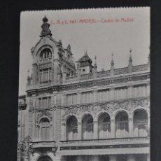 Postales: ANTIGUA POSTAL DE MADRID. CASINO DE MADRID. FOTPIA. CASTAÑEIRA. SIN CIRCULAR. Lote 44332304