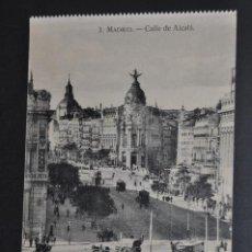 Postales: ANTIGUA POSTAL DE MADRID. CALLE DE ALCALÁ. SIN CIRCULAR. Lote 44332325