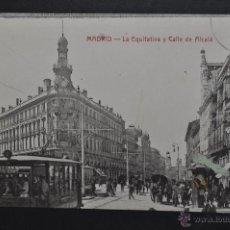 Postales: ANTIGUA POSTAL DE MADRID. LA EQUITATIVA Y CALLE DE ALCALÁ. ESCRITA. Lote 44332330