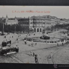 Postales: ANTIGUA POSTAL DE MADRID. PLAZA DE CASTELAR. FOTPIA. CASTAÑEIRA. SIN CIRCULAR. Lote 44332344