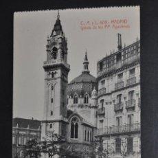Postales: ANTIGUA POSTAL DE MADRID. IGLESIA DE LOS PP. AGUSTINOS. FOTPIA. CASTAÑEIRA. SIN CIRCULAR. Lote 44332410