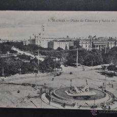 Postales: ANTIGUA POSTAL DE MADRID. PLAZA DE CÁNOVAS Y SALÓN DEL PRADO. SIN CIRCULAR. Lote 44332493