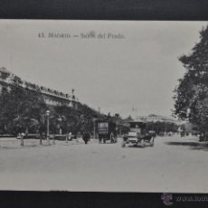 Postales: ANTIGUA POSTAL DE MADRID. SALÓN DEL PRADO. SIN CIRCULAR. Lote 44332657