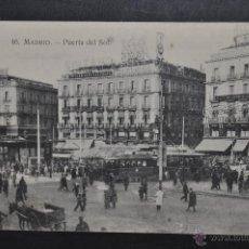 Postales: ANTIGUA POSTAL DE MADRID. PUERTA DEL SOL. SIN CIRCULAR. Lote 44332685