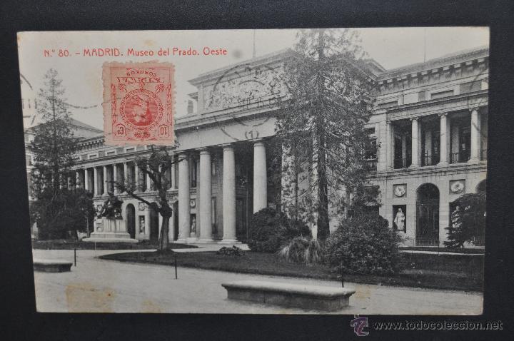 ANTIGUA POSTAL DE MADRID. MUSEO DEL PRADO, OESTE. FOTPIA. THOMAS. CIRCULADA (Postales - España - Comunidad de Madrid Antigua (hasta 1939))