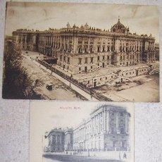 Postales: DOS ANTIGUAS POSTALES PALACIO REAL DE ORIENTE DE MADRID. ESCRITAS.. Lote 44360607