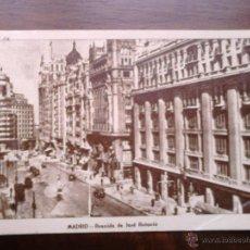 Postales: MADRID, AVENIDA DE JOSÉ ANTONIO, ARRIBAS.. Lote 44397470
