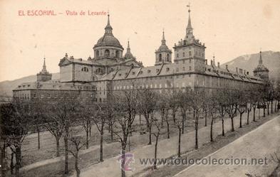 ANTIGUA POSTAL - EL ESCORIAL MONASTERIO - VISTA LEVANTE - ED. NICOLAS SERRANO - NUEVA (Postales - España - Madrid Moderna (desde 1940))