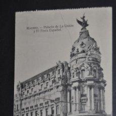 Postales: ANTIGUA POSTAL DE MADRID. PALACIO DE LA UNIÓN Y EL FÉNIX ESPAÑOL. SIN CIRCULAR. Lote 44891436