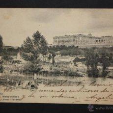 Postales: ANTIGUA POSTAL DE MADRID. EL MANZANARES. FOTPIA. HAUSER Y MENET. ESCRITA. Lote 44964401