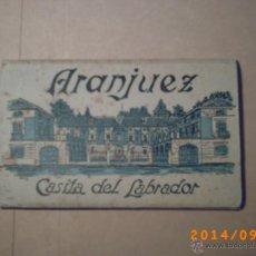 Postales: DESPLEGABLE ARANJUEZ - CASITA DEL LABRADOR - CARTERA DE POSTALES 12 - HELIOTIPIA ARTÍSTICA ESPAÑOLA. Lote 45173238