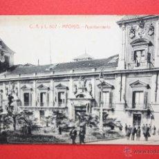 Postales: ANTIGUA POSTAL DE MADRID. AYUNTAMIENTO. FOTPIA. CASTAÑEIRA. ESCRITA. Lote 45194300