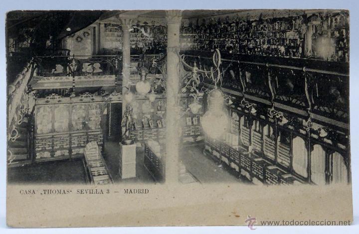 postal madrid interior tienda casa thomas calle sevilla unin postal universal sin dividir sin cir