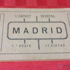 Postales: CARNET POSTAL MADRID 7ª SERIE 15 VISITAS . Lote 45482146