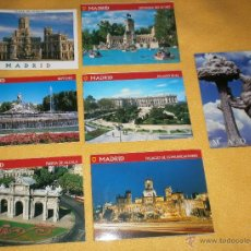 Postales: LOTE 7 TARJETAS POSTALES DE MADRID - SIN USO - COLECCIONISMO. Lote 45504987