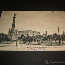 Postales: MADRID ESTATUA Y PLAZA DE COLON. Lote 45660528