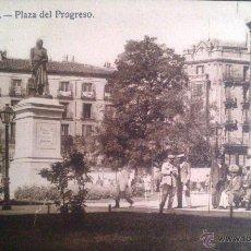 Postales: MADRID, PLAZA DEL PROGRESO, HELEOTIPIA. Lote 45722210