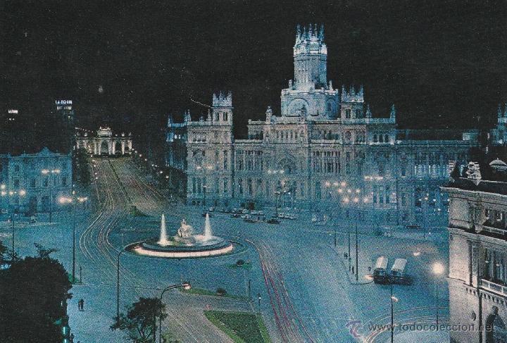 Nº 13933 POSTAL MADRID CIBELES PALACIO DE COMUNICACIONES Y ALCALA (Postales - España - Madrid Moderna (desde 1940))