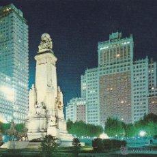 Postales: Nº 13978 POSTAL MONUMENTO A CERVANTES EN LA PLAZA ESPAÑA MADRID. Lote 45775970