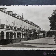 Postales: ANTIGUA FOTO POSTAL DE ARANJUEZ. MADRID. CARRETERA DE ANDALUCIA, PATIO DE INFANTES Y PASEO. Lote 104897454
