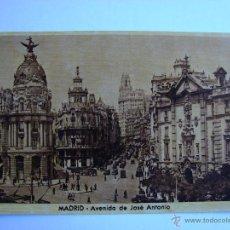 Postales: POSTAL ANTIGUA. MADRID. AVENIDA DE JOSE ANTONIO. Lote 46098326