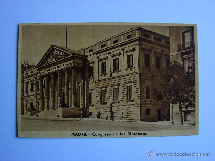POSTAL ANTIGUA. MADRID. CONGRESO DE LOS DIPUTADOS (Postales - España - Comunidad de Madrid Antigua (hasta 1939))
