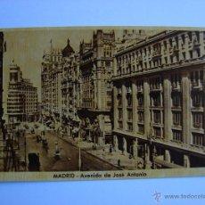 Postales: POSTAL ANTIGUA. MADRID. AVENIDA DE JOSE ANTONIO. Lote 46099536