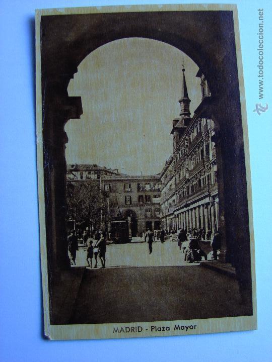 POSTAL ANTIGUA. MADRID. PLAZA MAYOR (Postales - España - Comunidad de Madrid Antigua (hasta 1939))