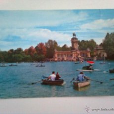 Postales: MADRID: PARQUE DEL RETIRO. ESTANQUE Y MONUMENTO A ALFONSO XII. Lote 46112489