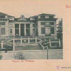 Postales: Nº 16307 POSTAL RECUERDO DE MADRID MUSEO DE PINTURAS SIN DIVIDIR. Lote 46153903