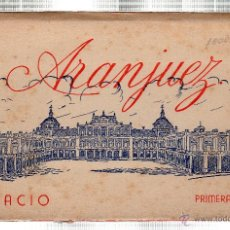 Postales: BLOC DE TARJETAS POSTALES DE ARANJUEZ. PALACIO. CONTIENE 12 POSTALES. Lote 159803941