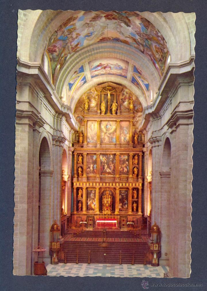 EL ESCORIAL. MONASTERIO. ALTAR MAYOR (Postales - España - Madrid Moderna (desde 1940))