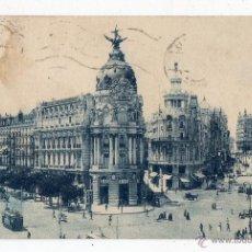 Postales: MADRID. CALLE ALCALÁ Y GRAN VÍA. FRANQUEADA EN DICIEMBRE DE 1925.. Lote 46324884