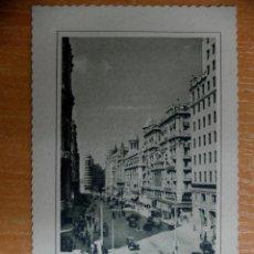 Postales: POSTAL DE MADRID. 3 VISTA PARCIAL DE LA AVENIDA DE JOSE ANTONIO.. Lote 46387886