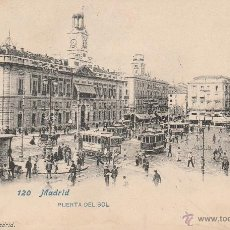 Postales: Nº 18631 POSTAL MADRID PUERTA DEL SOL SIN DIVIDIR LACOSTE. Lote 46510943