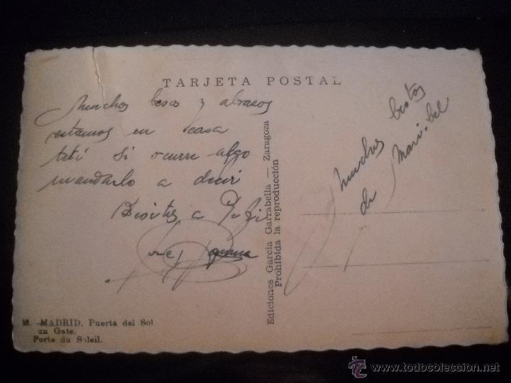 Postales: POSTAL MADRID ,PUERTA DEL SOL. - Foto 2 - 46602266