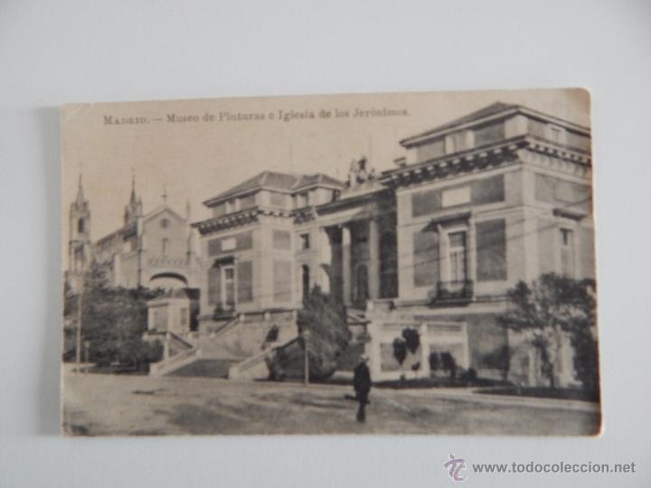 MADRID: MUSEO DE PINTURAS E IGLESIA DE LOS JERÓNIMOS (Postales - España - Comunidad de Madrid Antigua (hasta 1939))